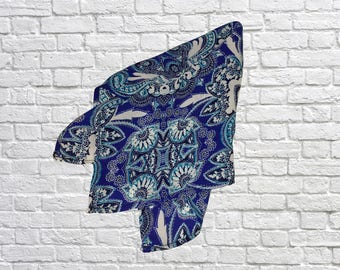 "Silk Pocket Square, Large, Light Blue - 13"" x 13"" - SpringBoard"