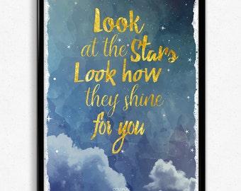 Coldplay Yellow Lyrics Poster Print A4 & A3