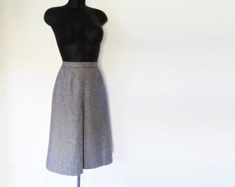 Vintage Wool Skirt, 1980s, Gray, A-Line, Grey, Wool Skirt, UK12, Vintage Skirt, Vintage Clothing, Winter, Skirt, Ladies Vintage