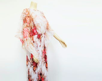 Vintage Dress, 70s, UK10, Boho Dress, Maxi Dress, Vintage Clothing, Clothing, Dress, Alternative Wedding Dress, Hippy, Designer Vintage