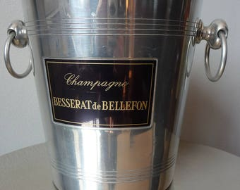 Vintage Shabby Chic French Champagne Ice Bucket Besserat de Bellafon