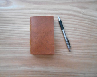 Brown Faux Leather Journal. Handmade and Perfect For Travel.