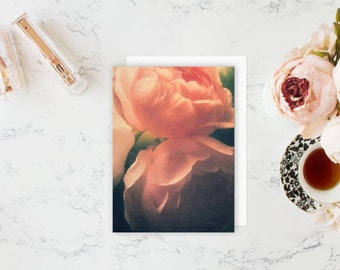 Pink Floral Notecard & Set