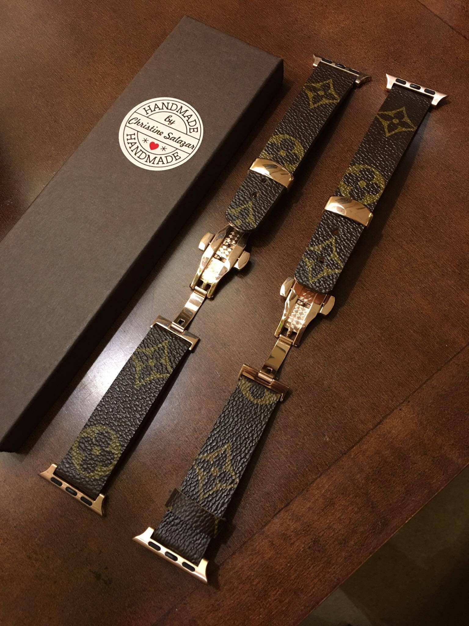 handmade louis vuitton apple watch band series 1 2 3 146mm
