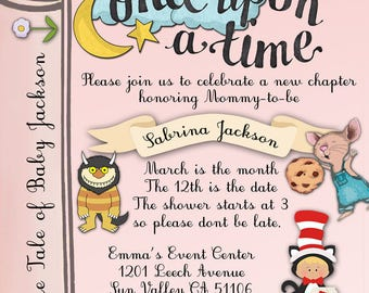 Storybook Invitation - Birthday, Baby Shower, Any Occasion
