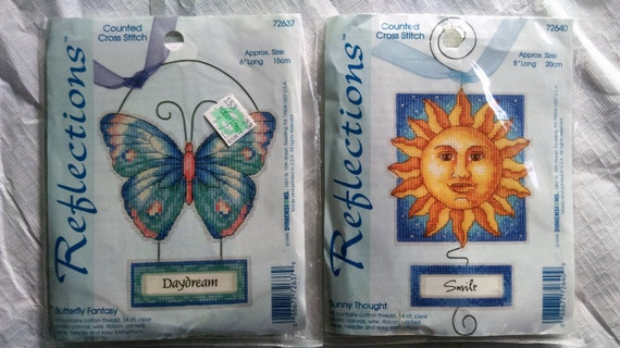 Dimensions Reflections Butterfly Fantasy or Sunny Thoughts Counted Cross Stitch Kit
