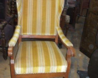 German Biedermeier Wing Chair
