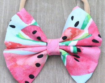 Watermelon Bow // Bowtie // Hairbows