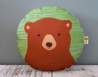Small pillow brown bear bio