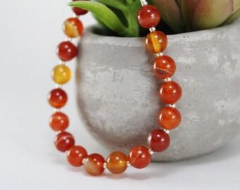 Genuine Carnelian Bracelet
