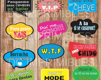 Printable party signs, printable wedding signs, poster, wedding party.