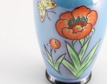Lusterware Blue Porcelain Vase Japan