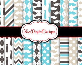 Buy 2 Get 1 Free-20 Digital Papers. Fathers Day Papers 1 (2L no 1) for Personal Use and Small Commercial Use Scrapbooking