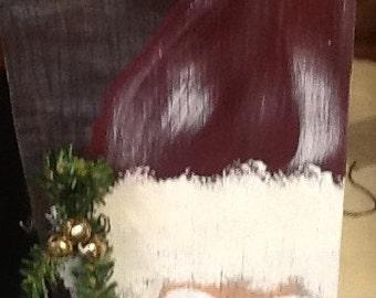 Handmade Santa wall hanging
