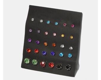 15 Pair Stud Earring Set