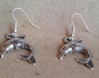 Dolphin earrings silver