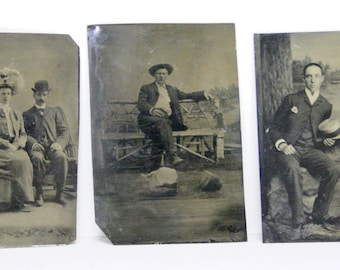 Original Antique Photographs and Tintypes Portraits