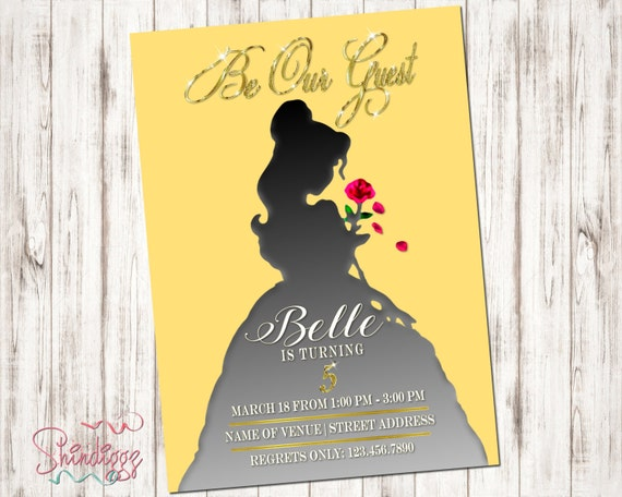 Beauty and the Beast Printable Silhouette Birthday Party ...