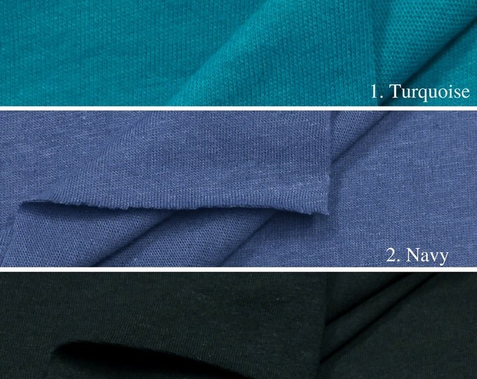 100% Cotton Jersey Knit Fabric By The Yard (Wholesale Price Available By The Bolt) USA Made Premium Quality - 2830 - 1 Yard