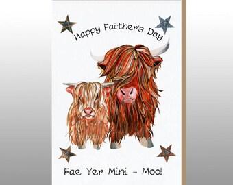 Fathers Day Card 'Fae Yer Mini Moo' WWFD09