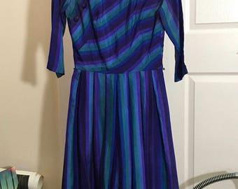 Vintage 1950s Suzy Perette Silk Dress Size 10