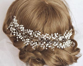 Wedding hair vine crystal wreath Bridal Crystal wreath prom hair accessory hair wreath Crystal Headband hair piece wedding hair piece