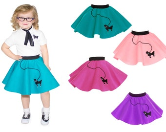 TODDLER Child (1-3) 50's POODLE SKIRT
