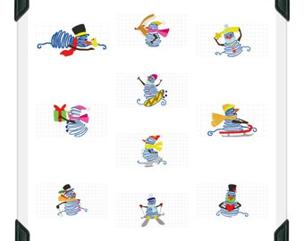 Funny-Snowmen-JTL ( 10 Machine Embroidery Designs from ATW )