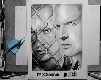 Michael and Lincoln || Prison Break || ORIGINAL DRAWING