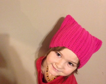 Pussy Hat: pink pussy hat, pussy hat project, kitty hat, cat ear hat