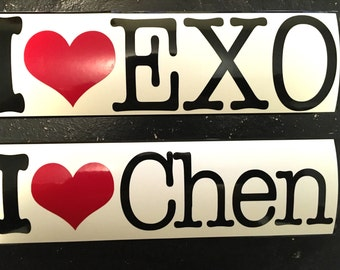 I Love EXO Kpop Decal Sticker