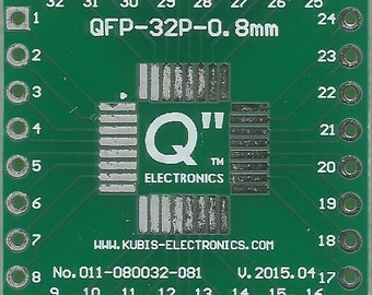 "QFP32 0.80mm(0.032"") to 4 x IDC1x8 connector."