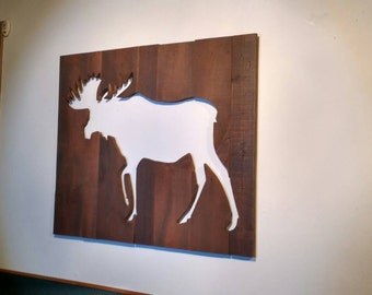 Moose - very large wall art