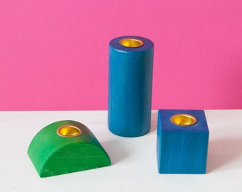 Building blocks-candle stand set
