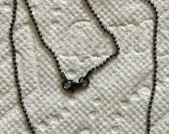 Black rodhium sterling silver chain
