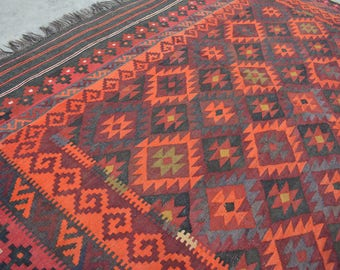 Gorgeous Handwoven Tribal Baluch wool kilim