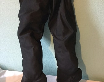 Vintage over the knee boots from the 1980s made in Italy