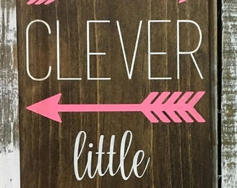 Stay Clever Little Fox - Wood Sign - Nursery Sign - Baby Shower Gift - Nursery Wall Decor