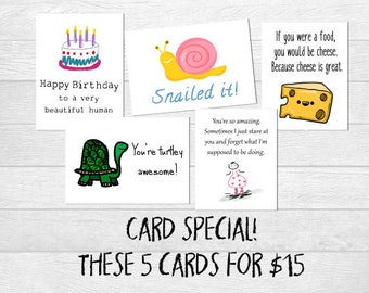 Card sale! Discounted varieties of greeting cards, funny cards, blank cards, recycled cards