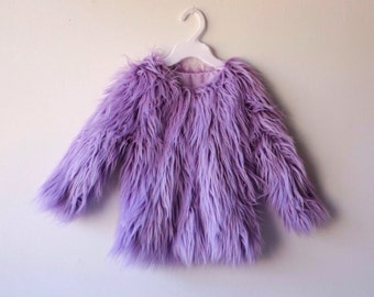 Lavender Faux Fur Coat