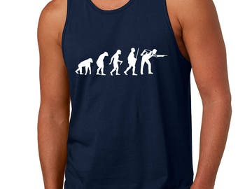 Men's Tank Top Evolution Pool Snooker 8 Ball Game Humor Funny Print Graphic Tops