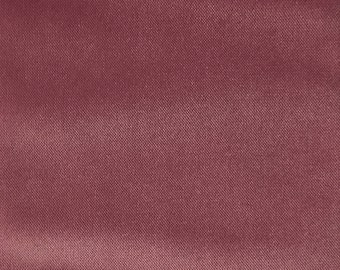 Velvet Upholstery Fabric - Byron - Orchid - Premium Plush Sateen Velvet Upholstery Fabric by the Yard - Available in 49 Colors