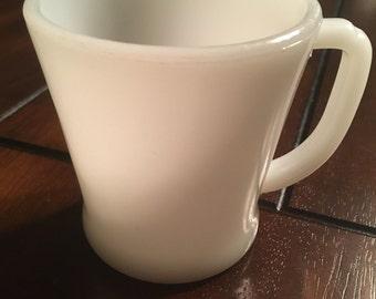 Vintage fire king milk glass mug