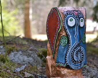 Wooden totem elephant