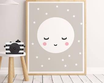 FAB print, Nursery PINK,Baby room wall art, Cute poster, Cute art, Art for kids, Nursery print, Kids decor, PINK wall art,Nursery decor pink