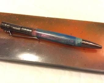 Custom bolt action gun metal grey pen