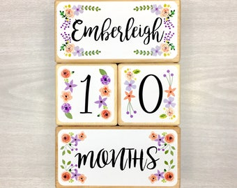 Additional Large Block - Name Block - Personalized Baby Blocks - Personalized Baby Age Blocks - Baby Milestone Blocks - Nursery Decor