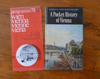 Vintage 1972 Pocket History of Vienna Book by Erik Wickenburg and 1978 Program of Events, Vintage History Book, Austrian History