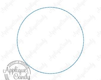 Circle Raw Edge Applique Machine Embroidery Design 1x1 1.5x1.5 2x2 2.5x2.5 3x3 3.5x3.5 4x4  Frame Raggy Raggie INSTANT DOWNLOAD