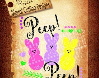 Peep Peep Svg Easter Svg Peeps SVG DXF PNG and Eps Instant Download Digital Vector Cut File  Scrapbook Htv Silhouette Cricut